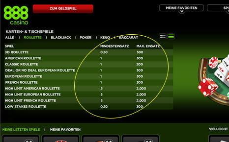 Roulette ohne Tischlimit 308187