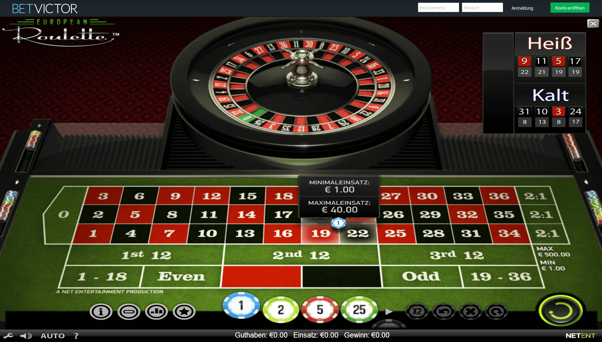 Live Roulette in 663550