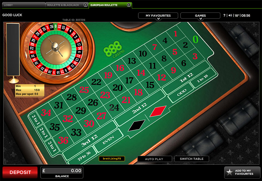 Roulette Tisch 203484