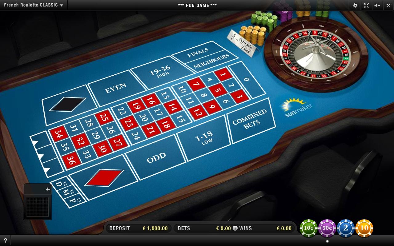 Französisch Roulette Tisch 984343