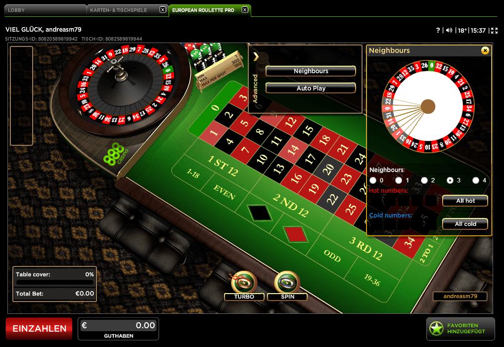 Auszahlungsquote Spielautomaten Roulette 25689