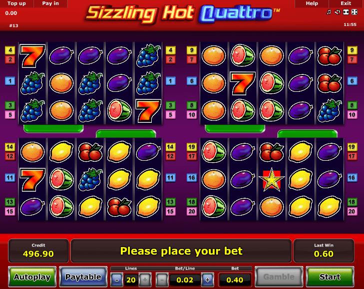 Sizzling Hot Quattro 224526