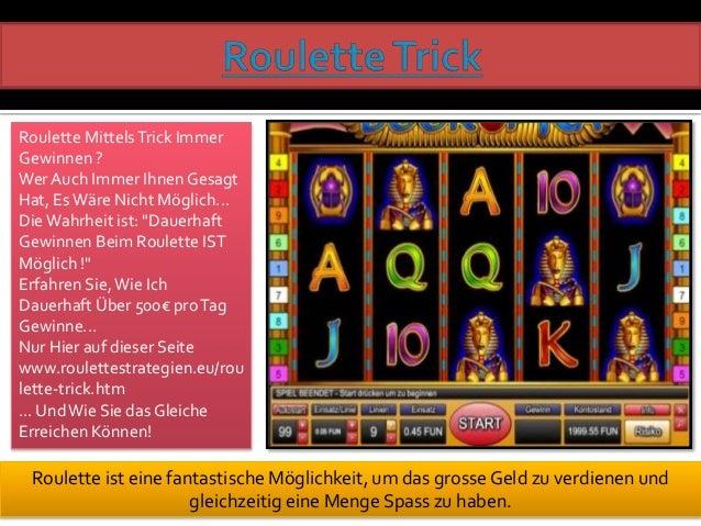 Roulette Dauerhaft Gewinnen 38205