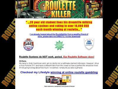 Roulette System Software 848711