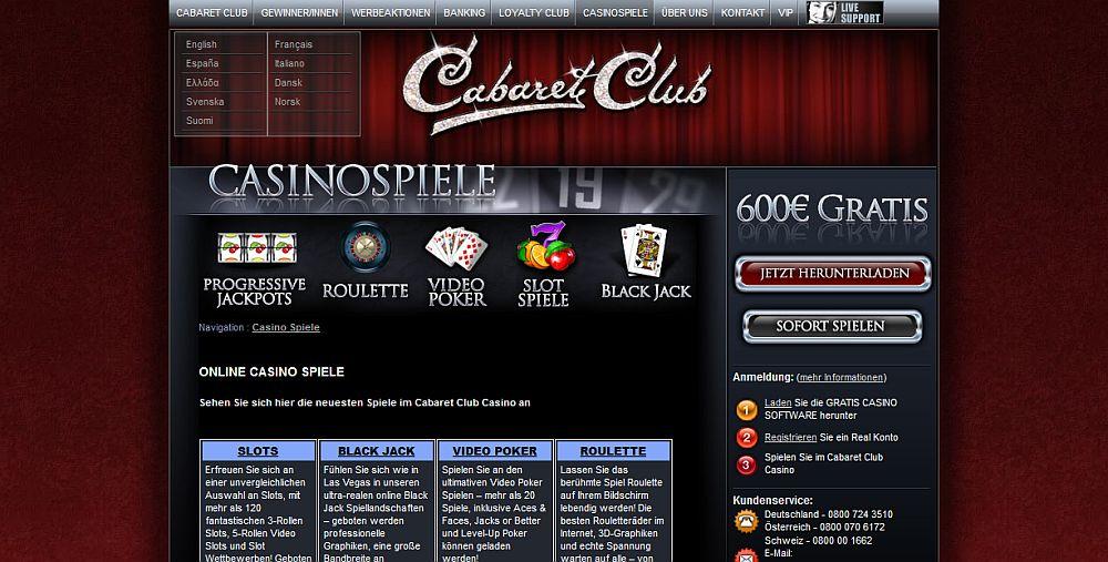 Geheimnis Spielautomaten Cabaret 458875